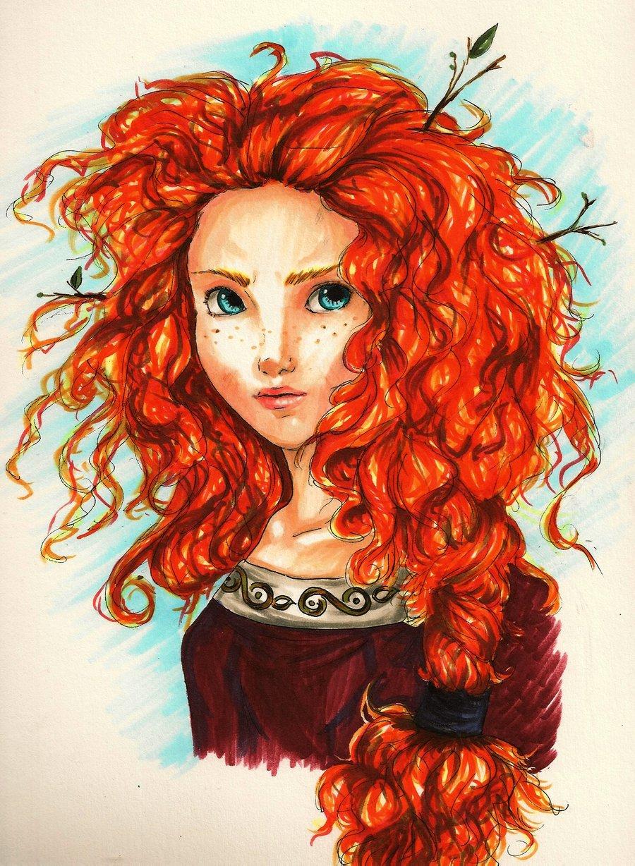 Для открытки, прикольные рисунки рыжих девушек