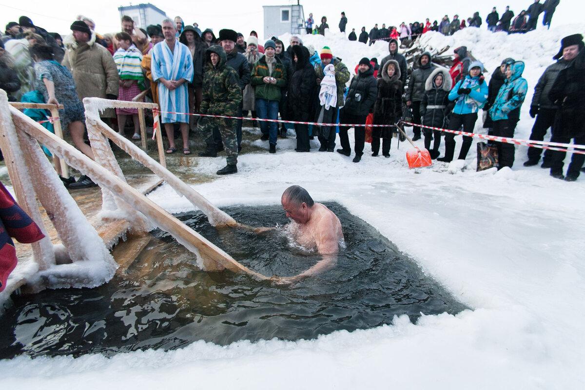 Картинка купание в крещение