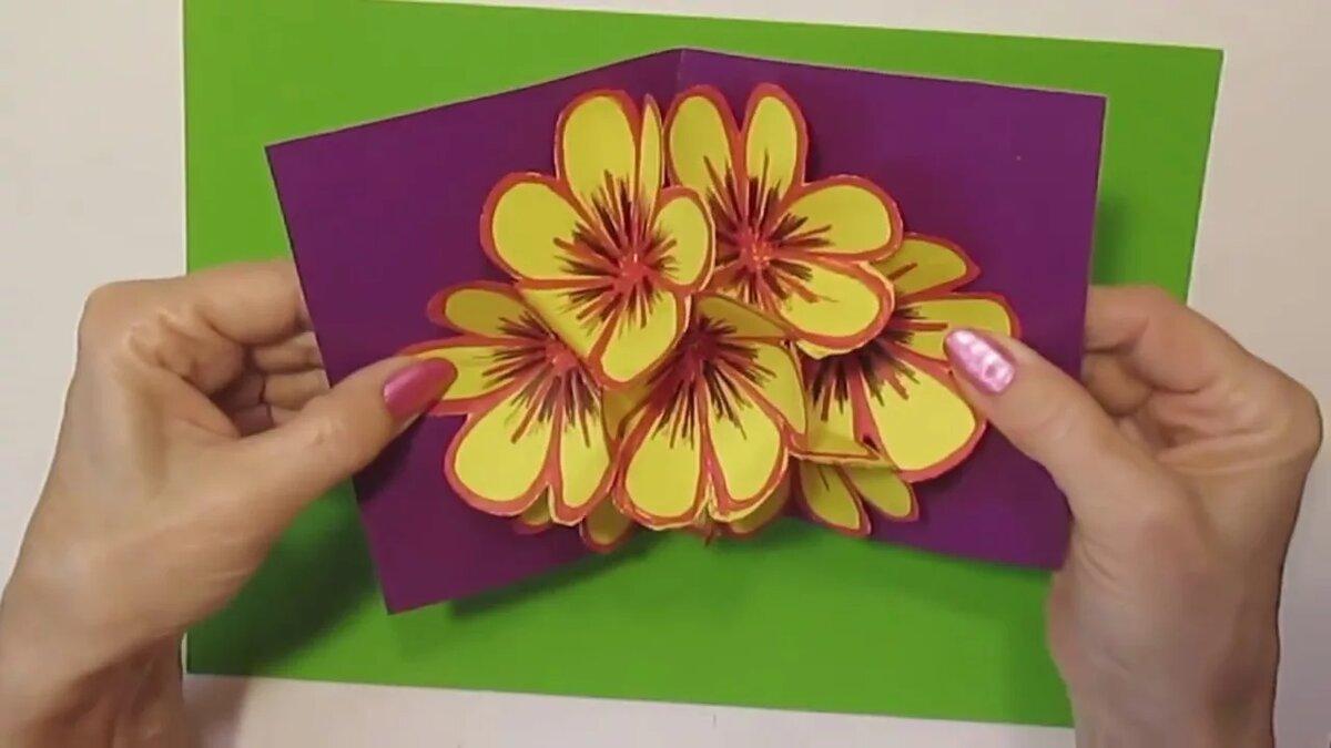 Ежиком, как сделать открытку на день рождения видео с цветами