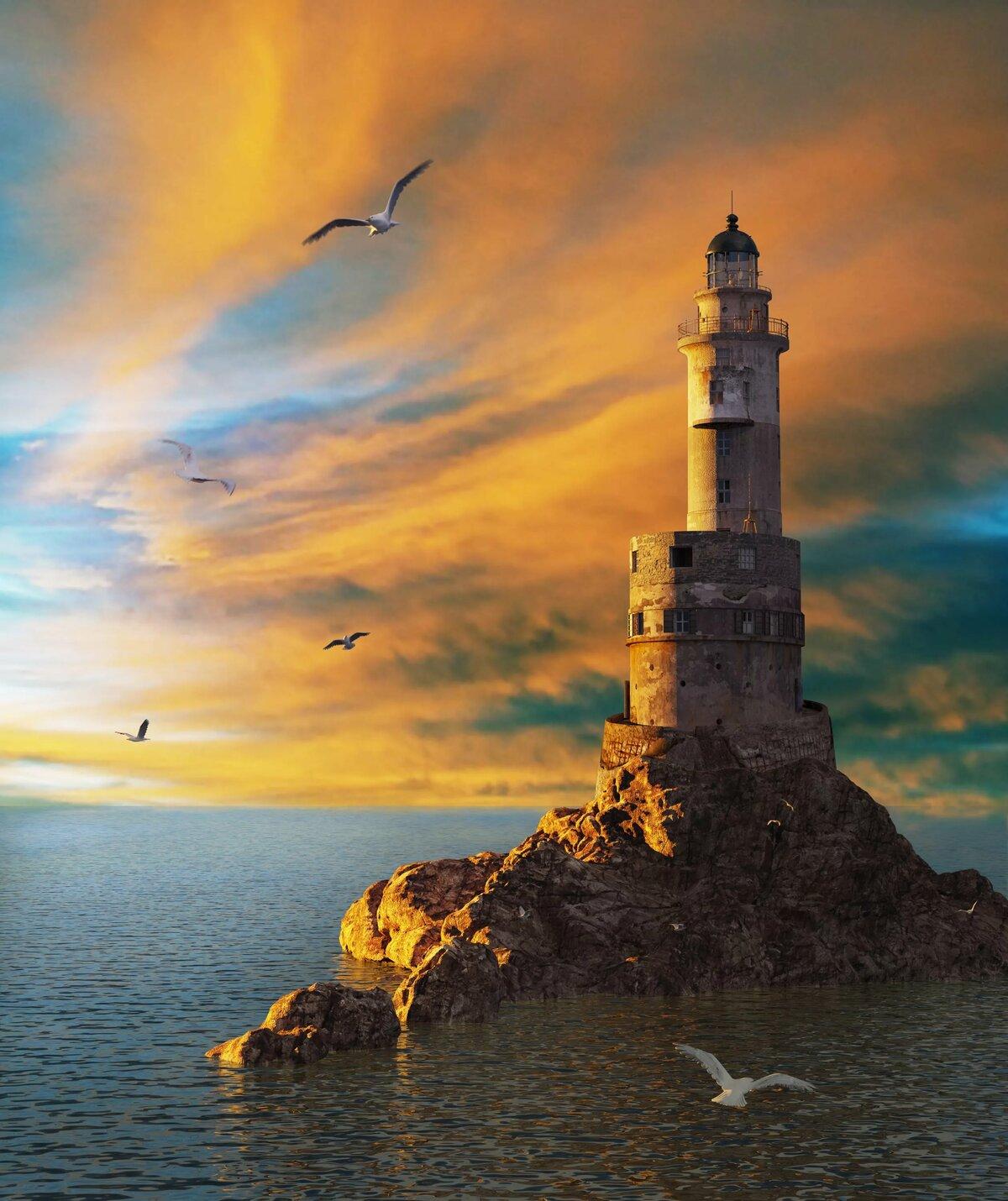 картинки старинных маяков зарубежных поездок