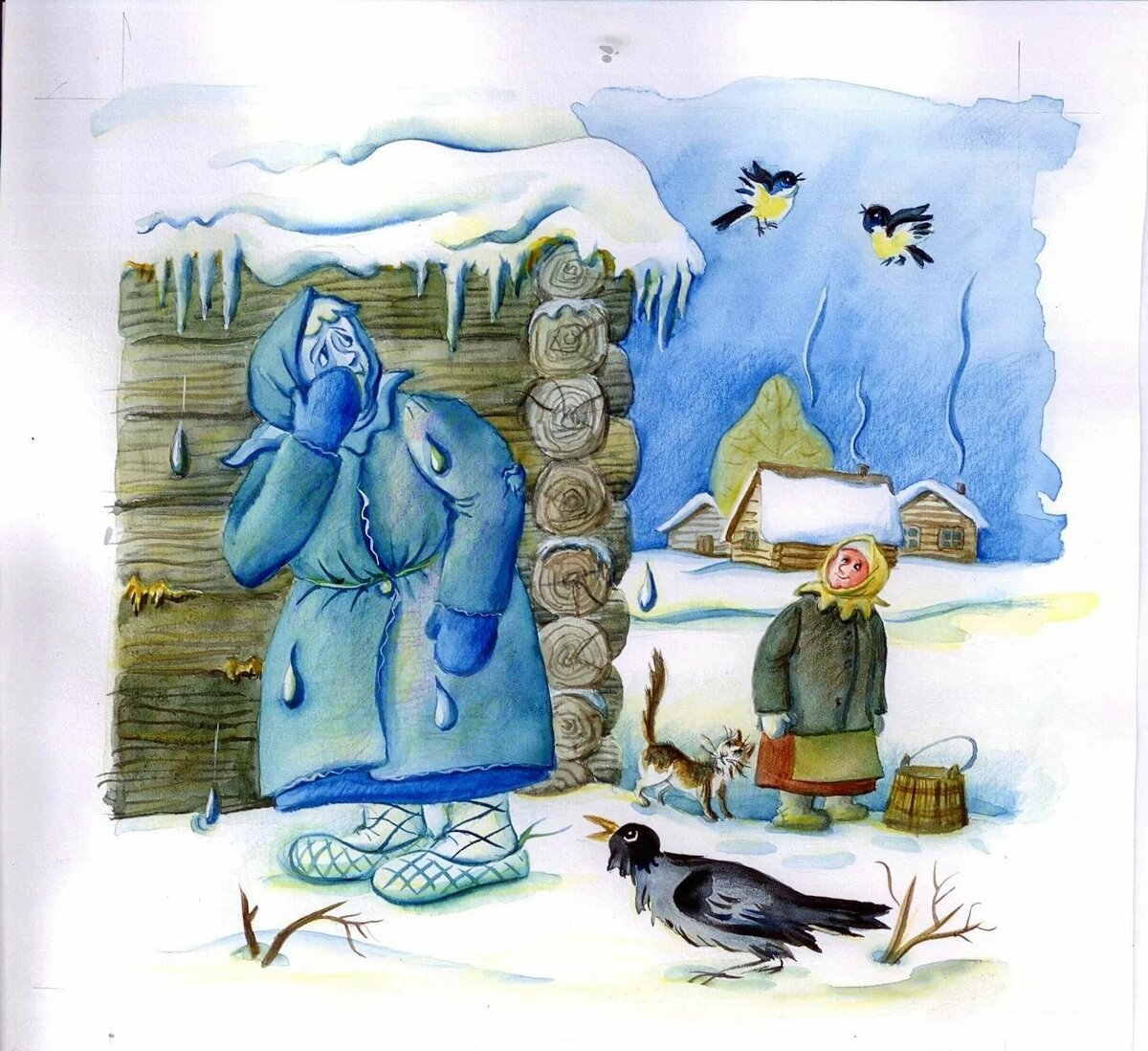 рисунки в гостях у тетушки зимы блок