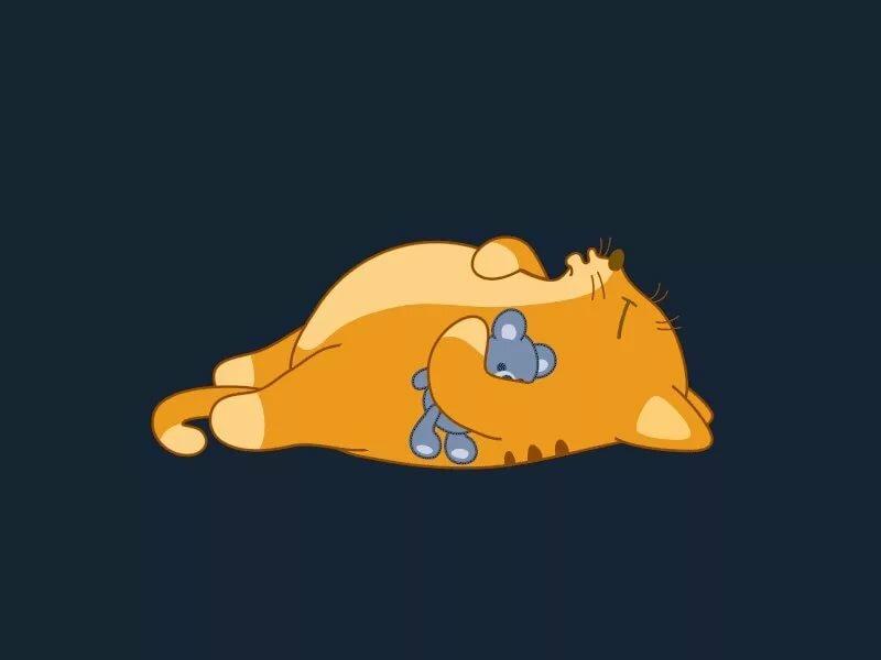 Гифки картинки зверюшки спят