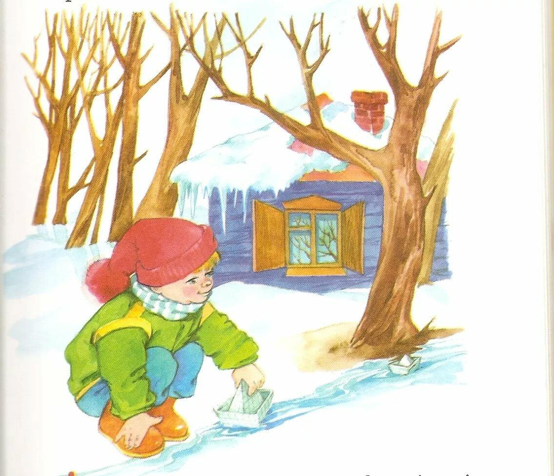 Детские картинки по теме весны