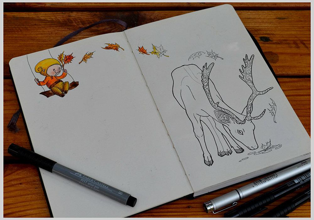 Рисунки карандашом в блокноте для срисовки
