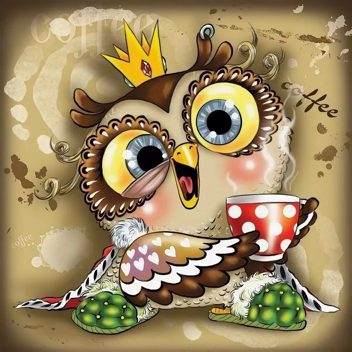 Картинки смешные совы рисунок, руками