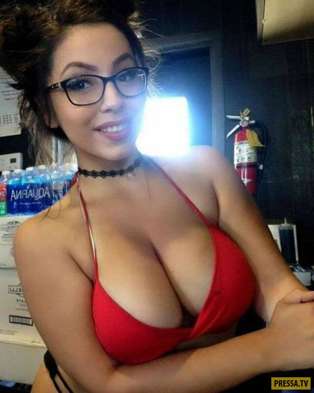 Brunette Glasses Big Boobs
