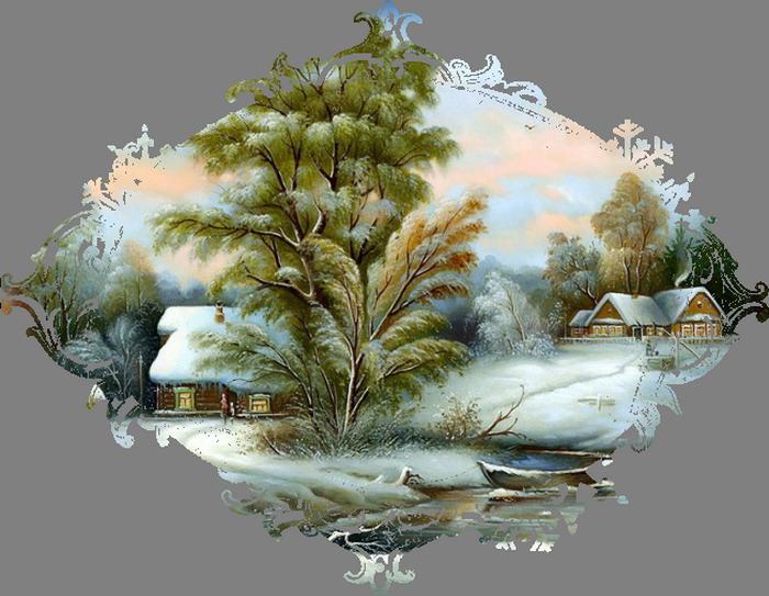 Картинки о зиме на белом фоне