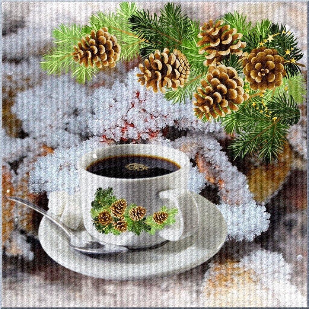 Красивые открытки зима доброе утро