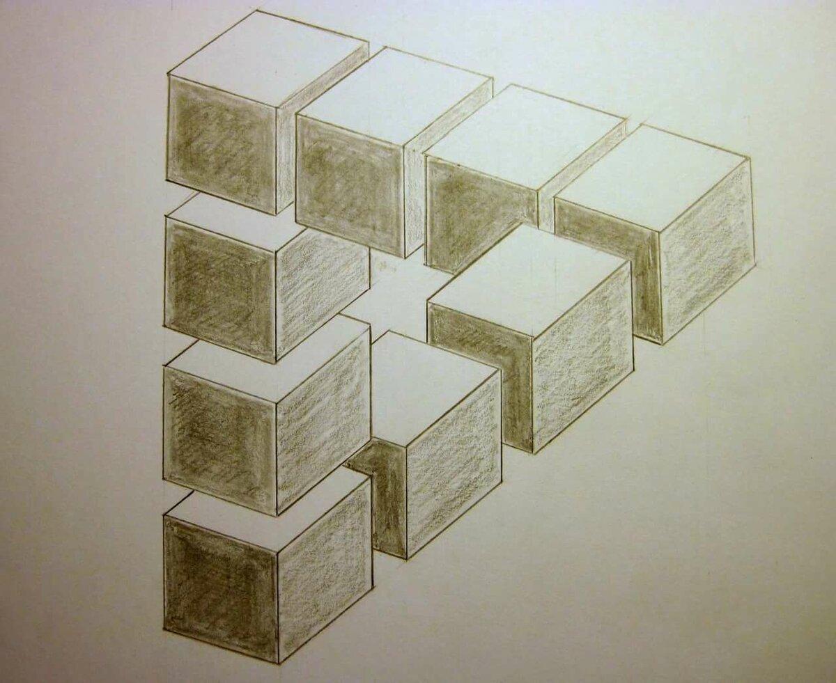 Картинки иллюзии карандашом
