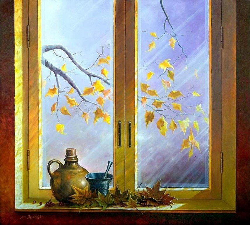 Картинки осенний пейзаж из окна