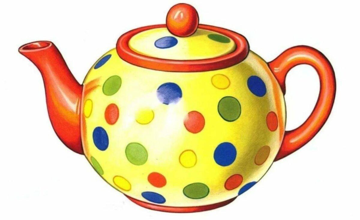 Картинки для детей цветная посуда
