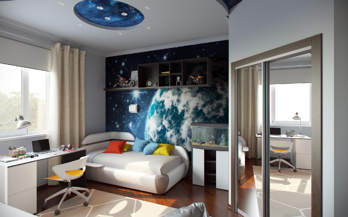 Картинки интерьер комнаты для мальчика