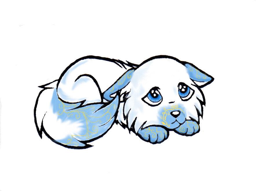 Аниме собаки как нарисовать картинки