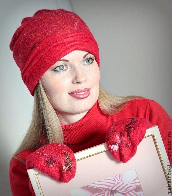 db82a193d9663 Шапка валяная женская..тёплая - купить в интернет-магазине на Ярмарке  Мастеров с
