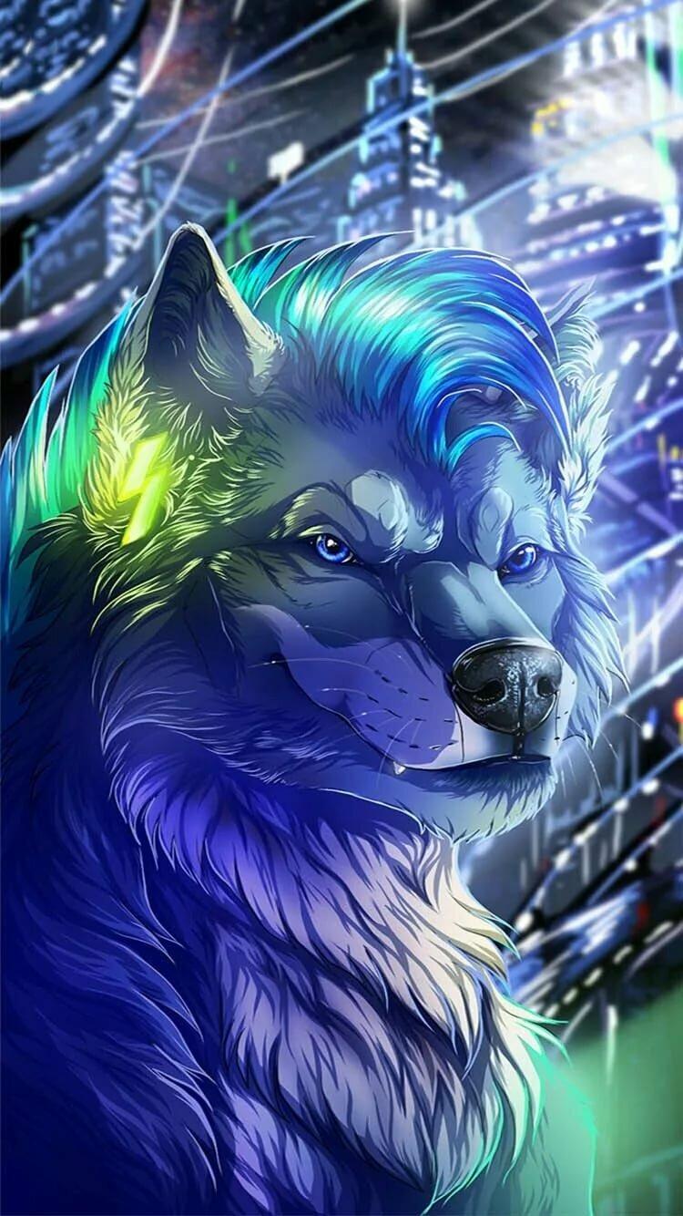 Картинки волки красивые фэнтези