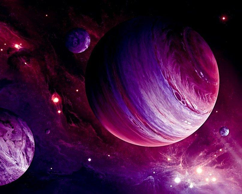 картинки разноцветных планет упростить этот