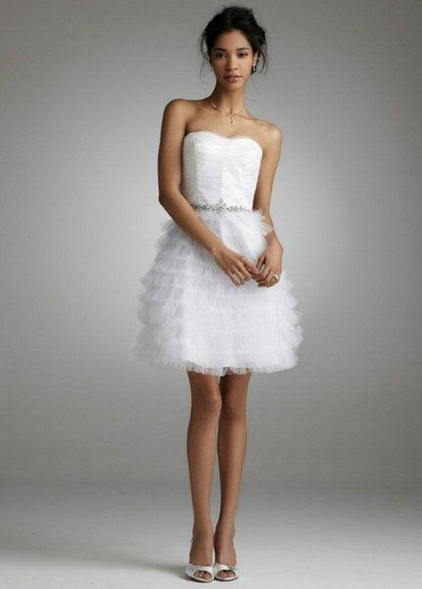 Короткие свадебные платье картинки