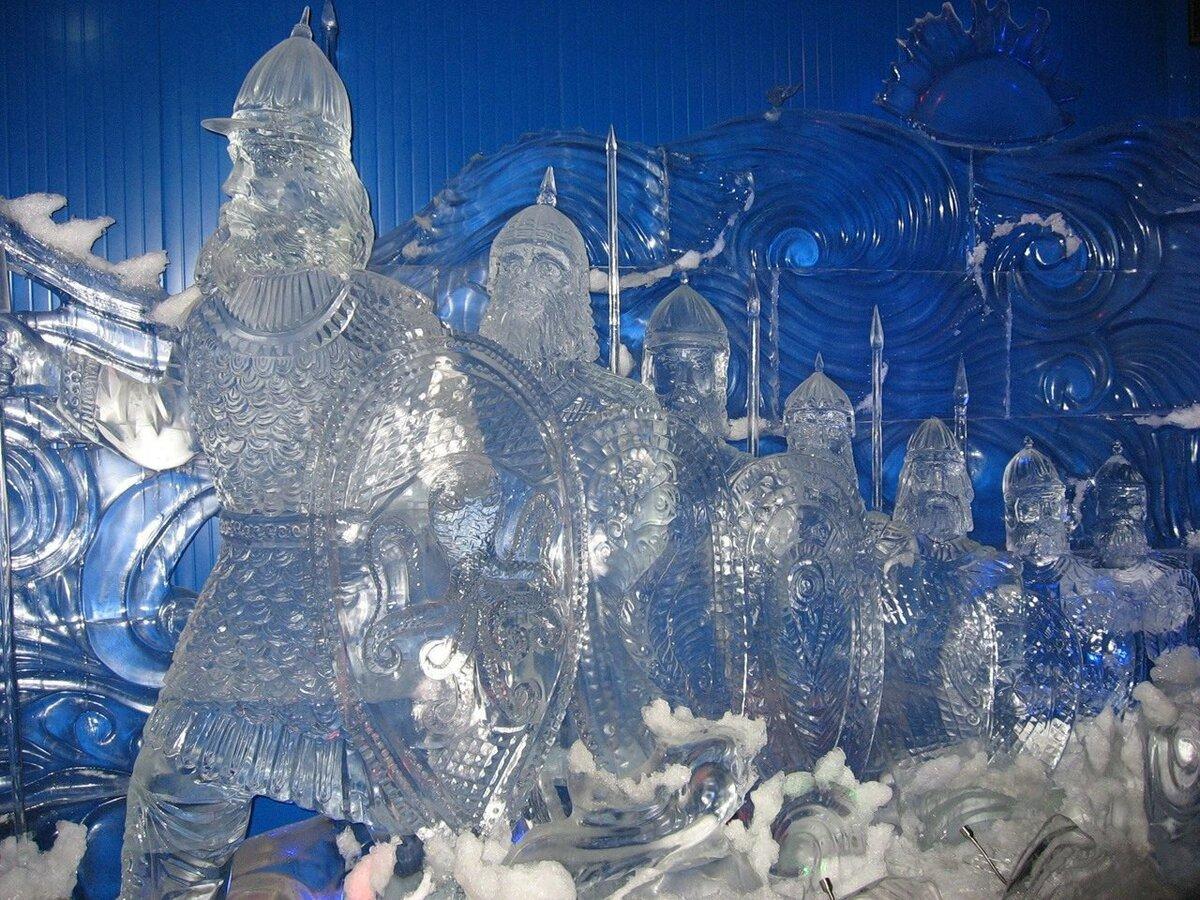 Скульптуры из льда в картинках