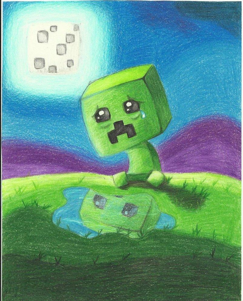 Картинки крипера как нарисовать