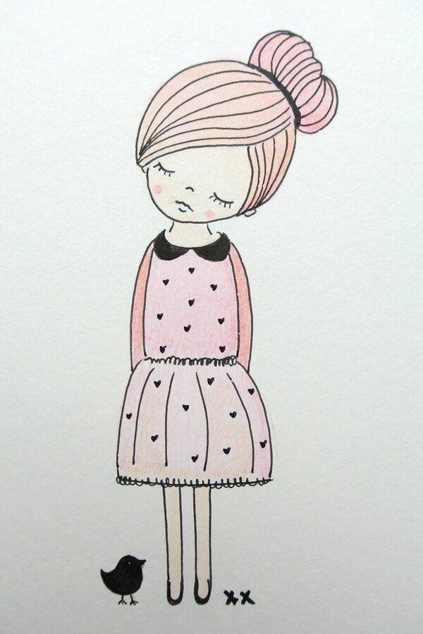 Картинки девочек простые для срисовки