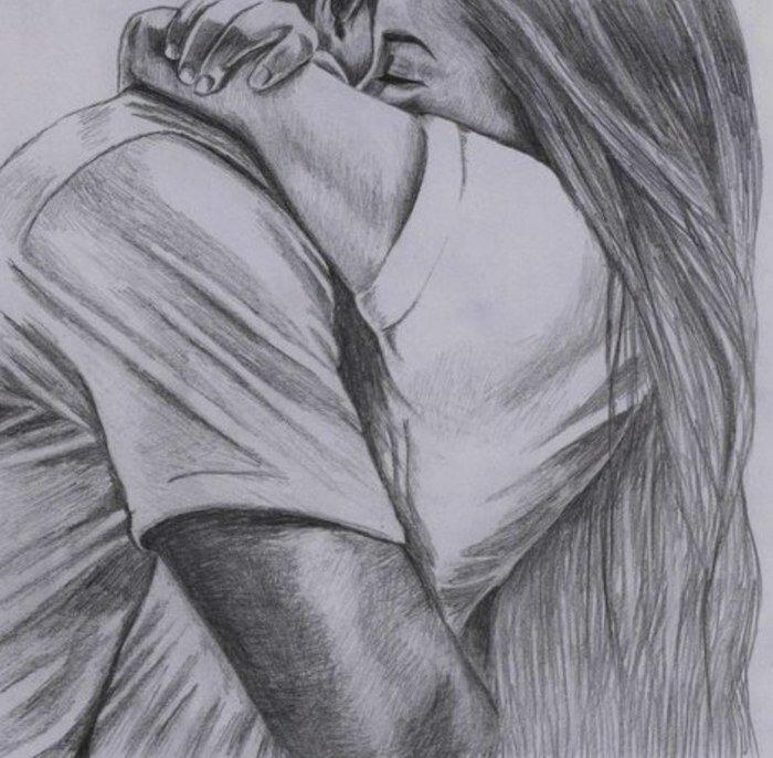 Открытки, рисунок романтика карандашом поэтапно