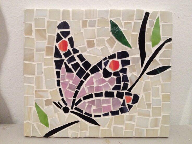 решила картинки для мозаики из битой плитки современности они