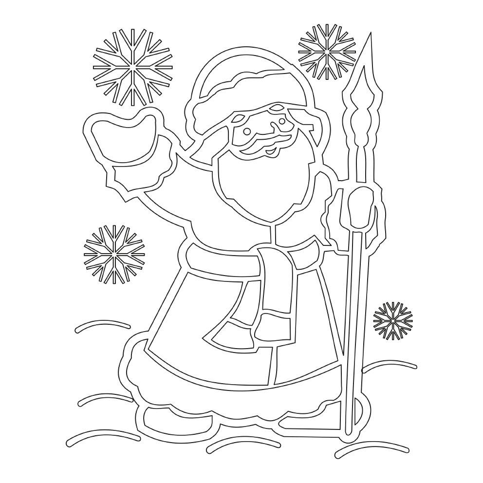 Напечатать картинки к новому году на окна