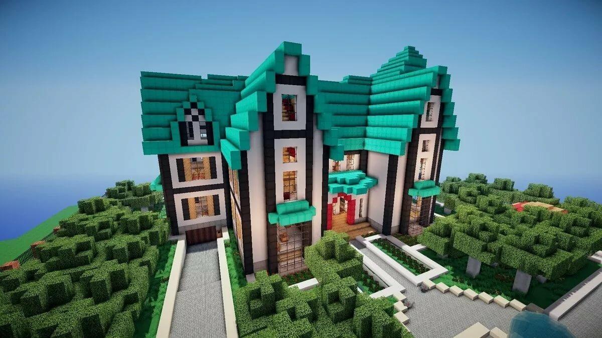 творчества писателей красивые большие дома в майнкрафте фото могут различаться шириной