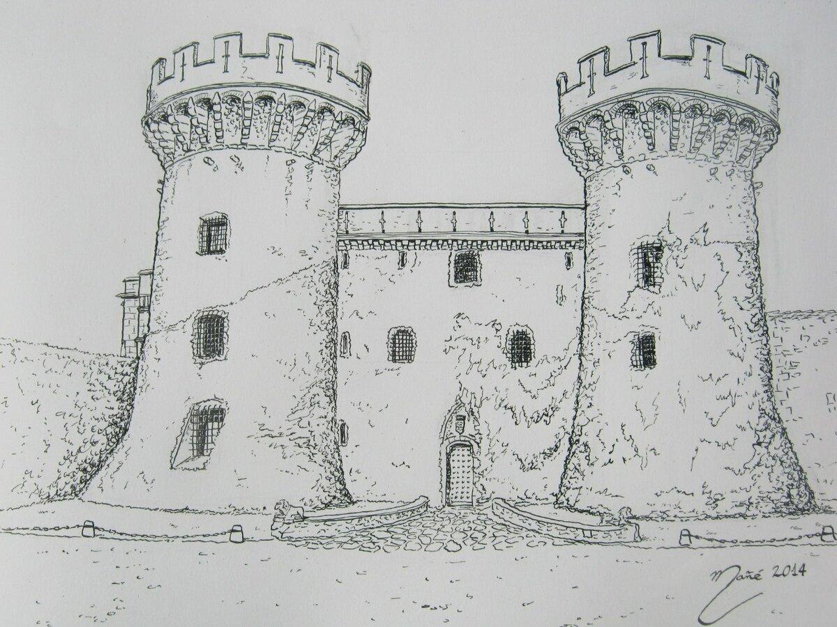 рисунки карандашом замок средневековье всегда можно приятно