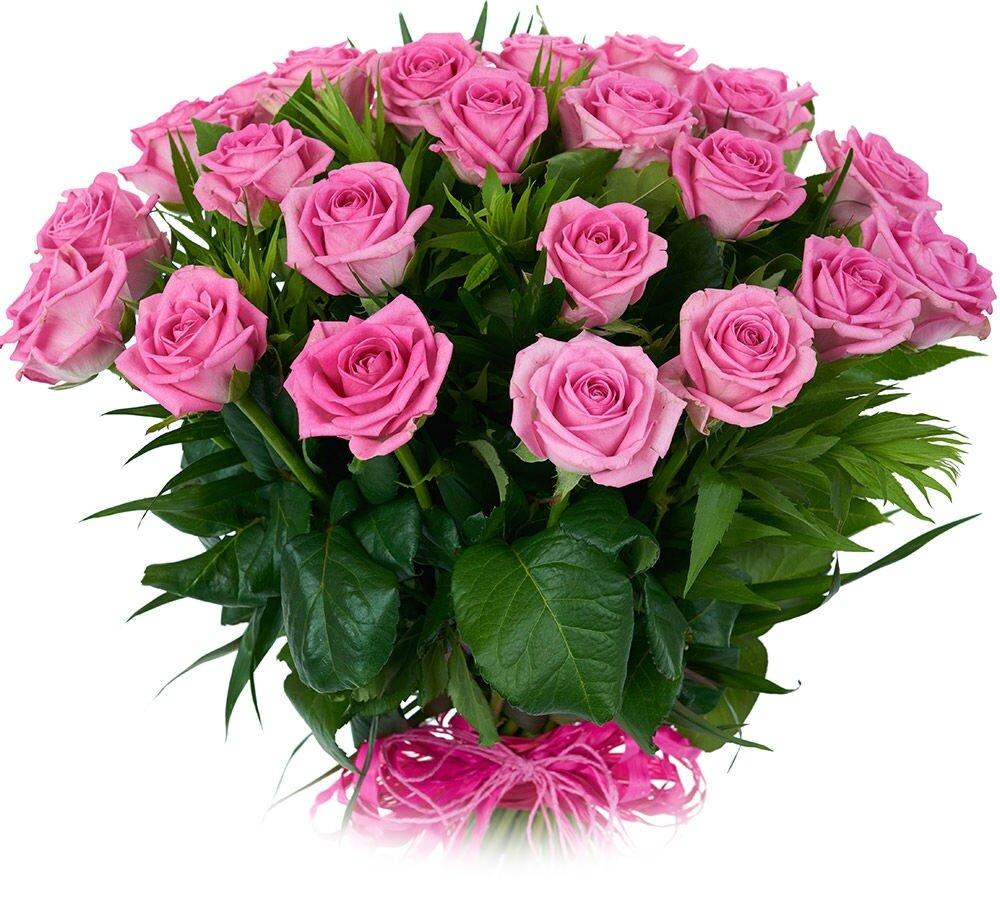 Букет из роз открытка с днем рождения