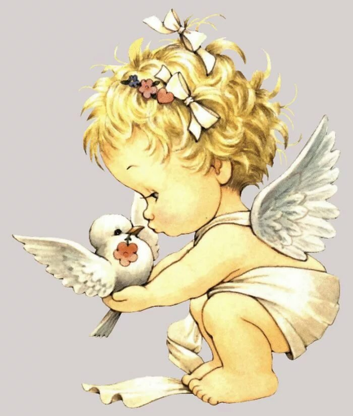Скрап, рисунок ангелы для детей
