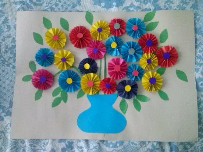 Днем, открытка к дню матери в саду