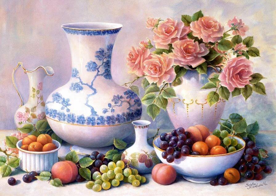 Картинки натюрморт в цвете