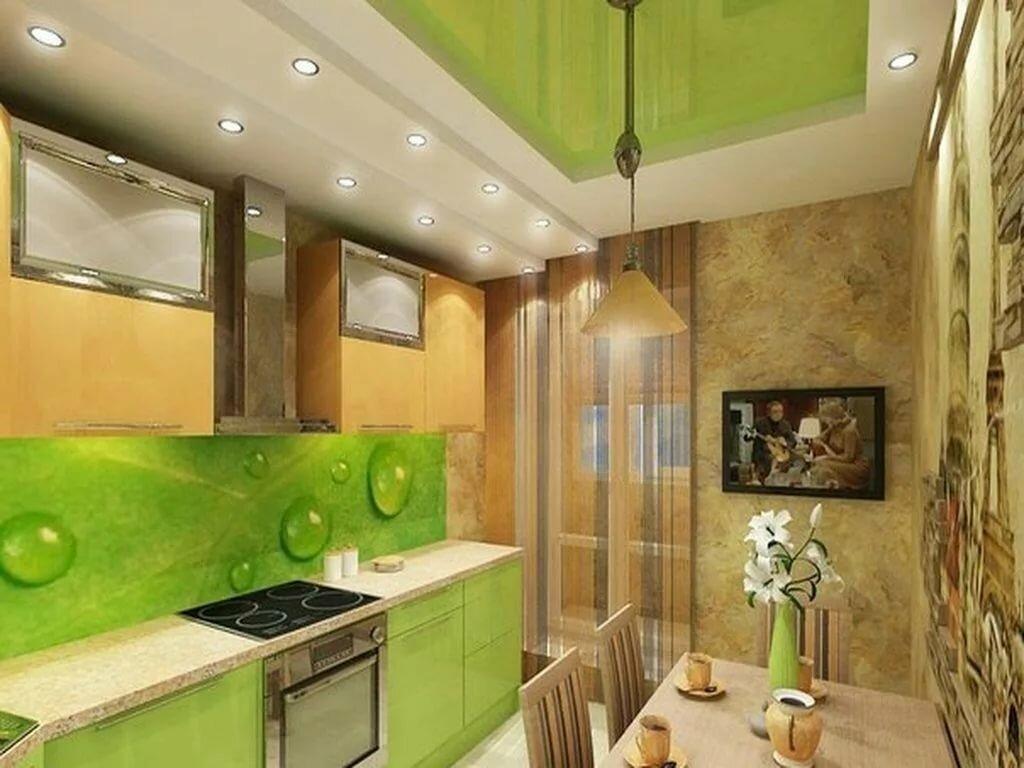 любые обои на зеленую кухню фото натуральные