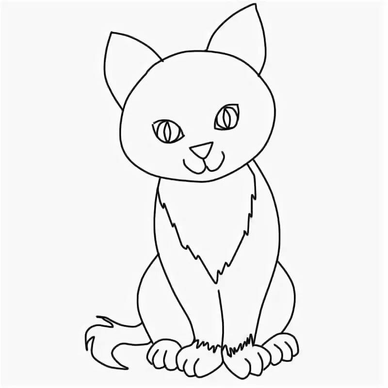 Тиснением, картинки кошек карандашом для детей