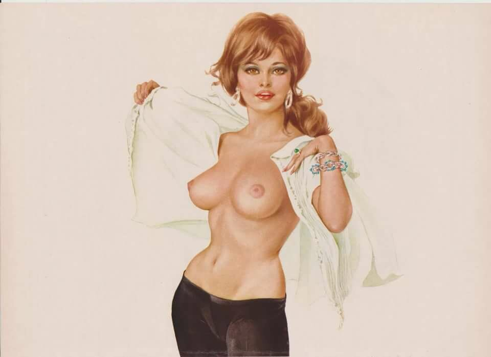 Vintage pinup girls in the nude