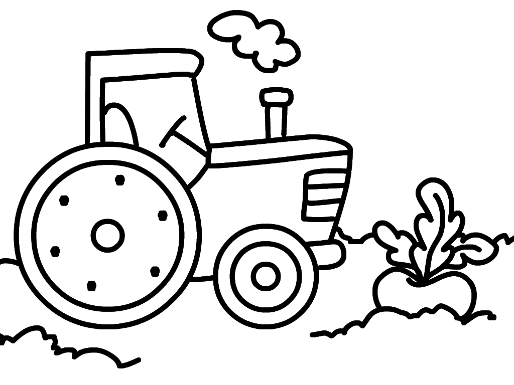 Сердечек, картинки для ребенка 2 года для раскрашивания трактор