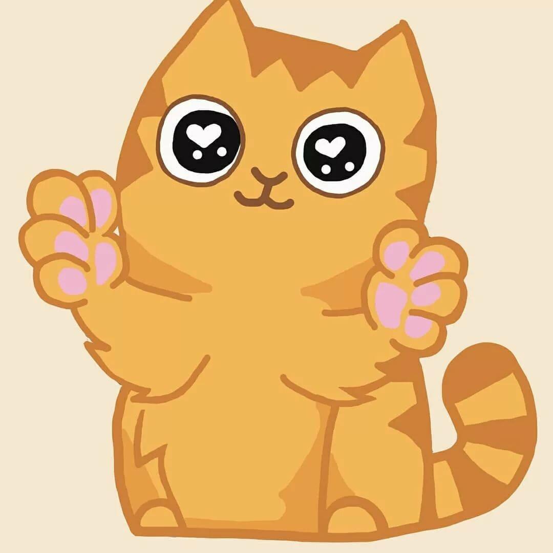 Смайлики кота вк картинки