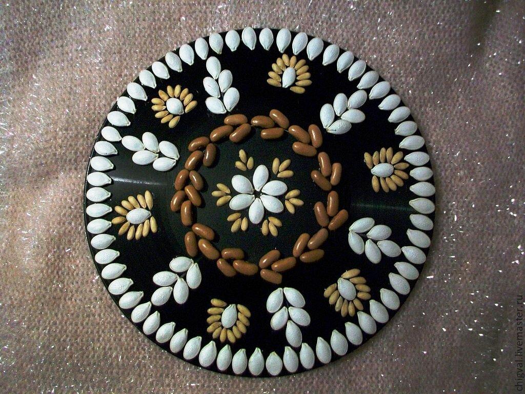 Картинки от литьевого основы из семечек тыквы и фасоли