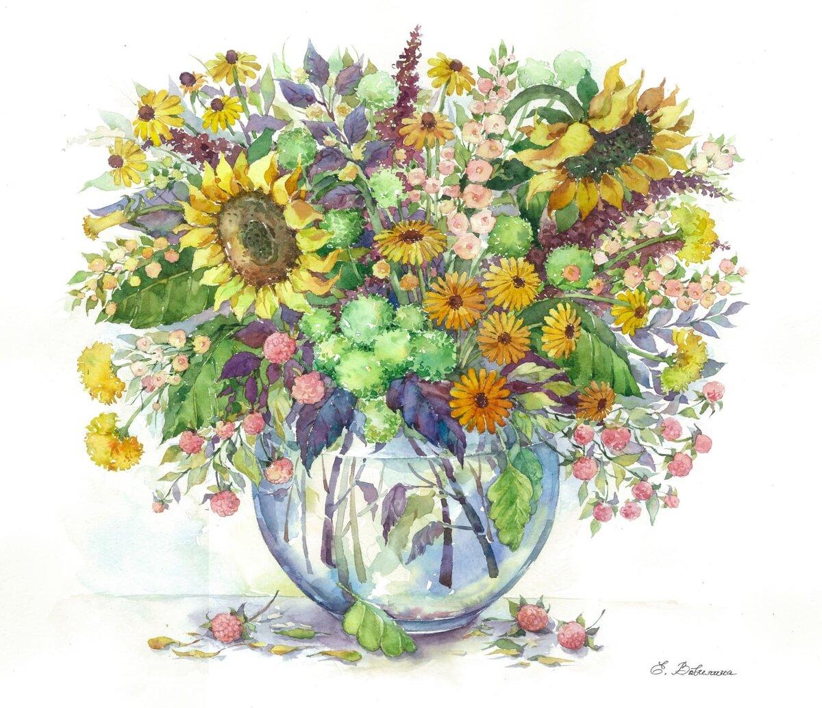 Отправить, цветы букет рисунок цветной
