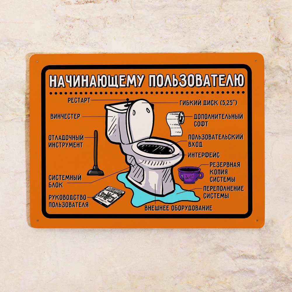 Надпись в туалет с картинкой