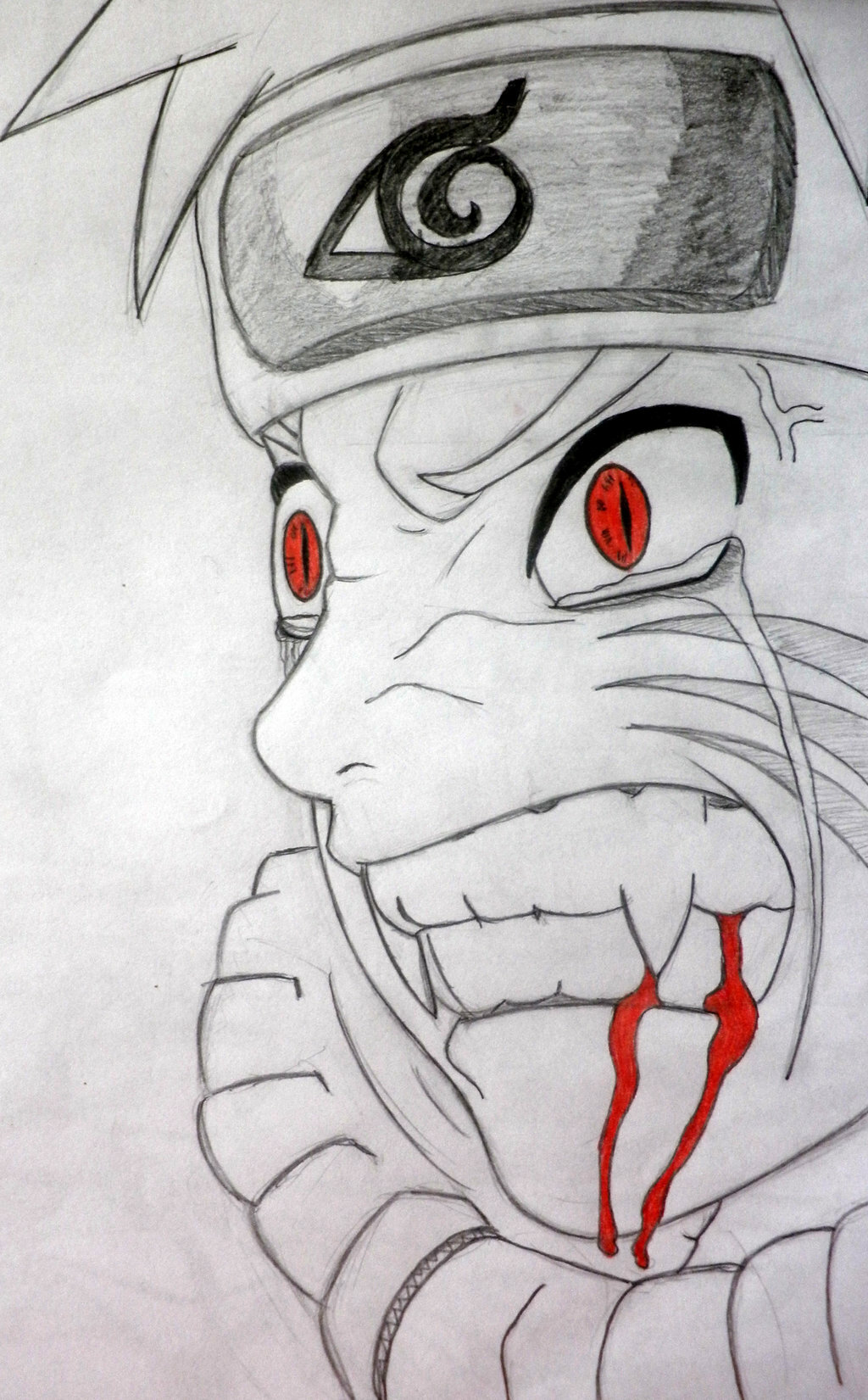 Картинки наруто аниме карандашом для