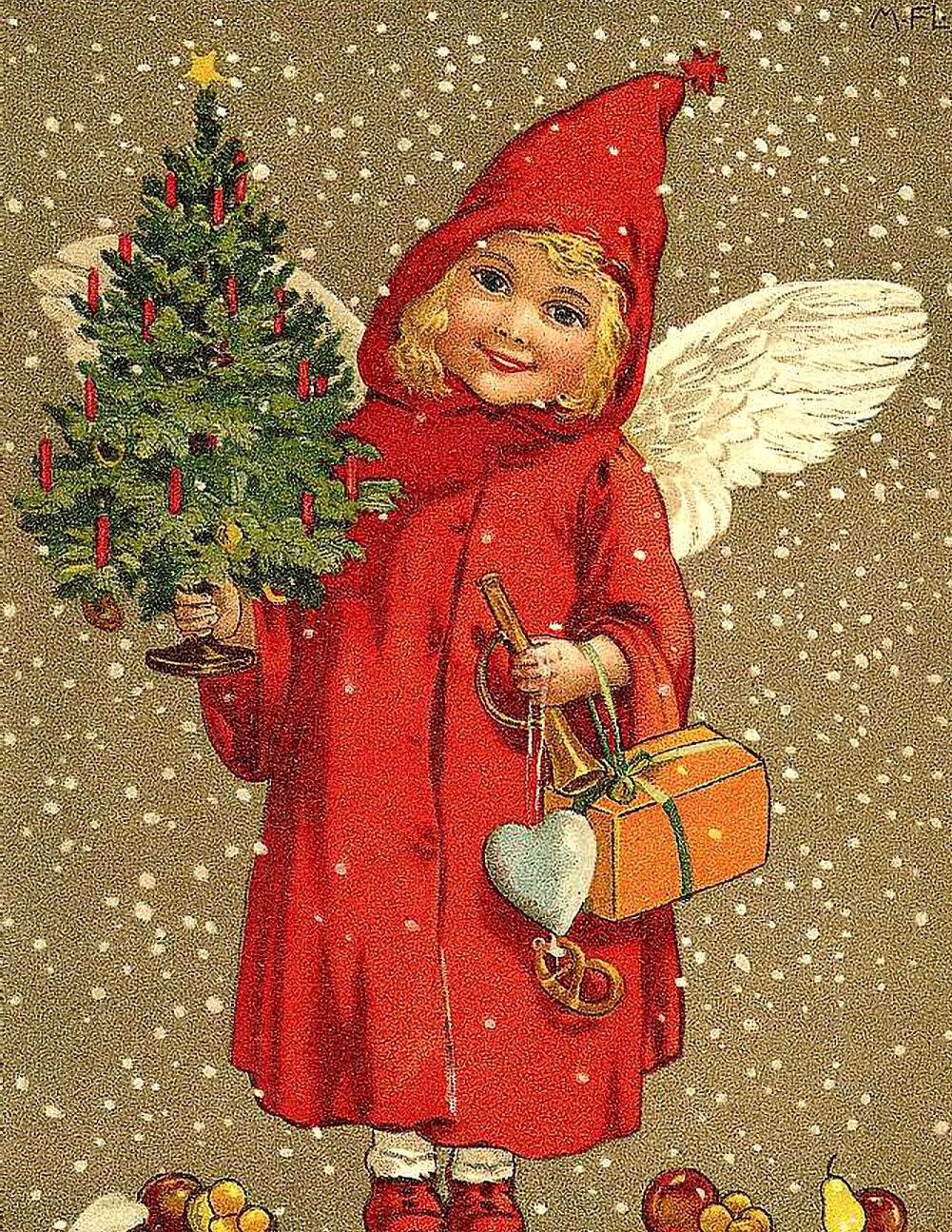 с рождеством старая открытка
