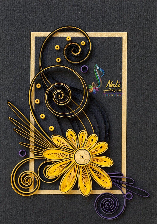 Квиллинг как украсить открытку