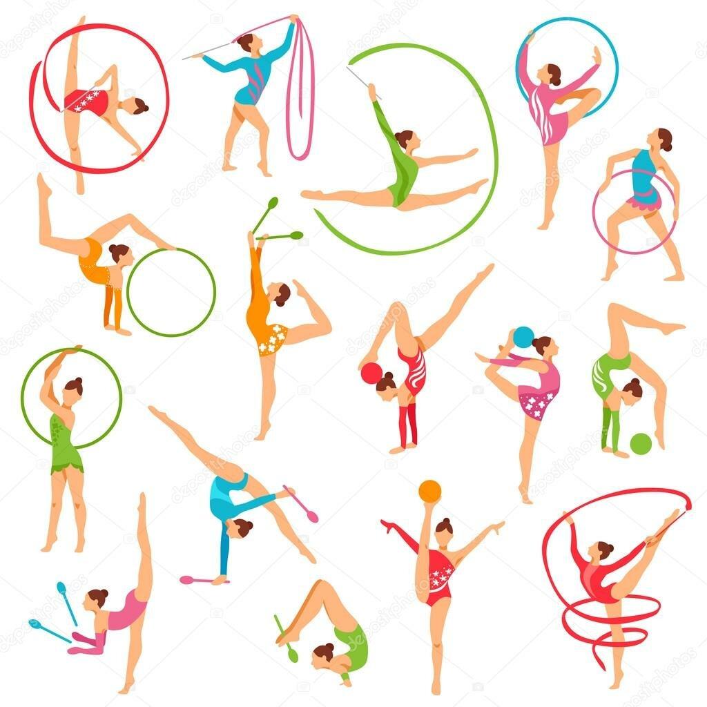 Упражнение картинки на цветном фоне