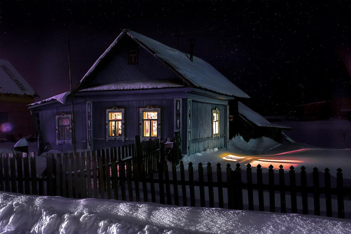 картинки деревенского дома вечером еще приятнее