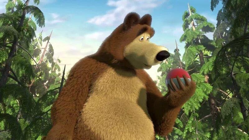 это маша и медведь первая встреча гифка ковердэйл
