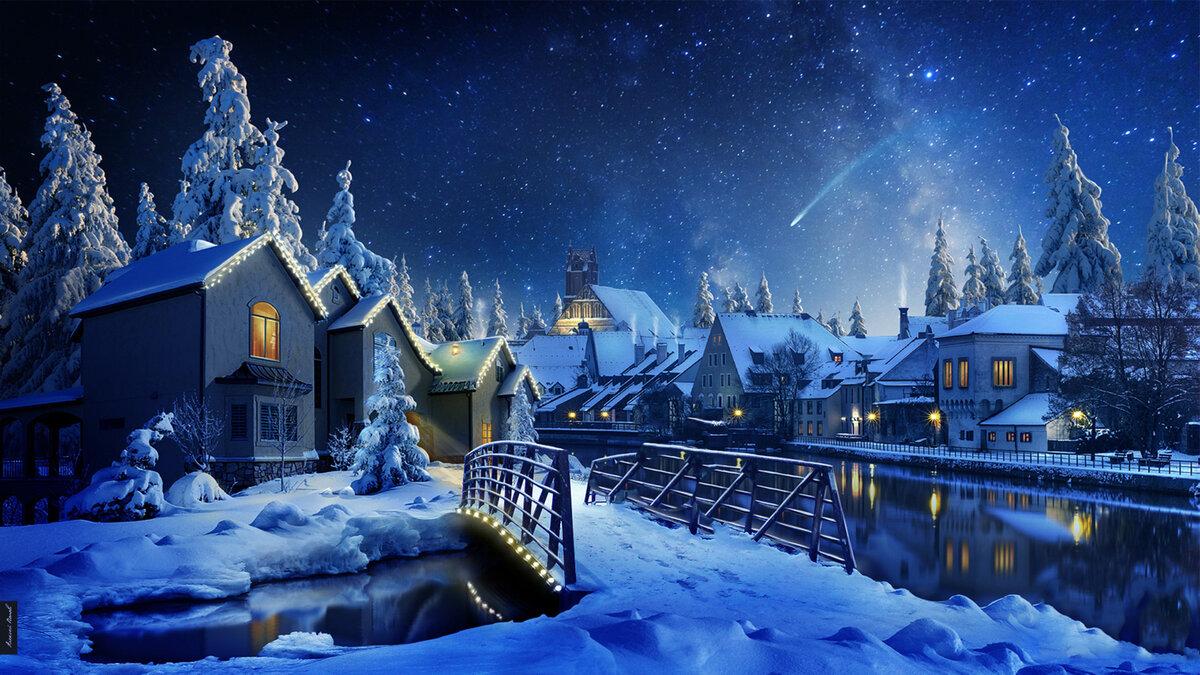 Волшебные открытки с рождеством, бокалом тебя