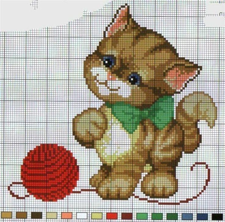 кот трёт картинки для вышивания крестиком животные попробуем разобраться