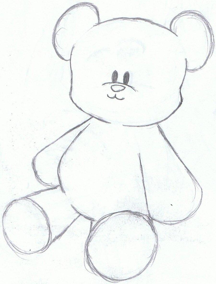 Рисунок медвежата легкие